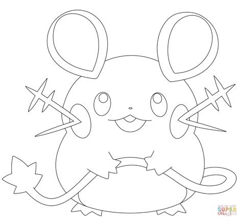 pokemon coloring pages hawlucha dedenne coloring page free printable coloring pages