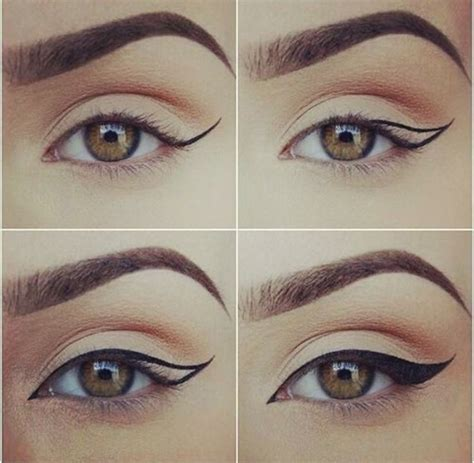 tutorial memakai eyeliner kuas cara membuat winged eyeliner dengan sempurna kawaii