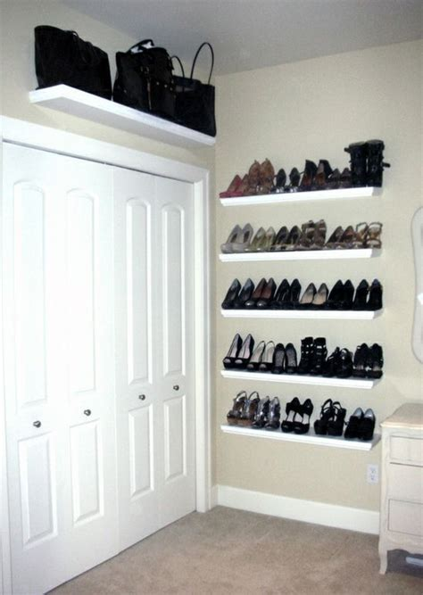 shoe shelves wall mounted shoe storage clothes and