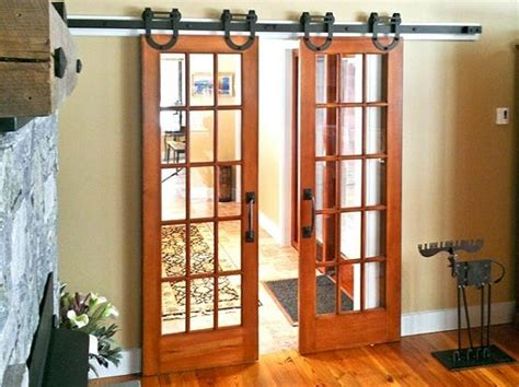 interior sliding barn door for the home pinterest interior barn door kit with glass panel interior barn door