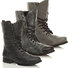 Infantry 031 Blk S harley 12 womens lace up studded combat boot black shoes fashion