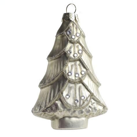 glitter jeweled christmas tree glass ornament christmas