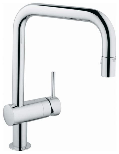 grohe pull out spray kitchen faucet contemporary