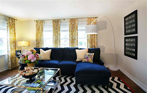 Yellow And Black Living Room Decorating Ideas by 20 Amazing Blue Black White Yellow Living Rooms Living