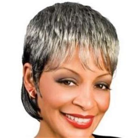 gray hair pieces for african american women 8 inch new style short curly gray african american lace