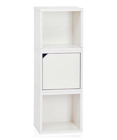 way basics white stackable three cube storage shelf