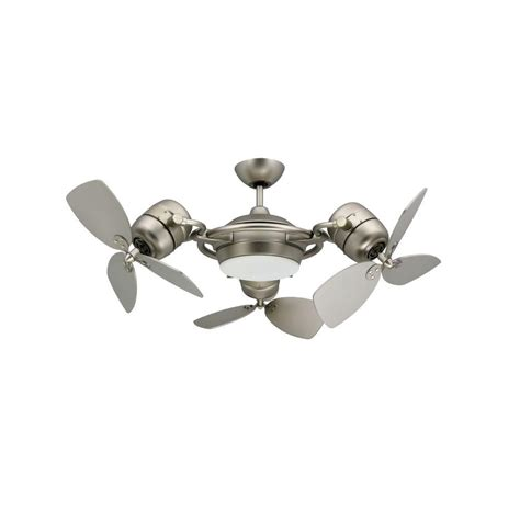 modern ceiling fans home interior troposair tristar 47 in satin steel triple