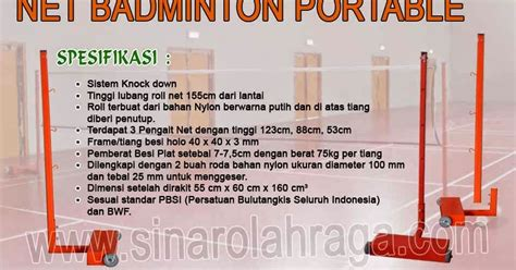 Kursi Wasit Voli jual alat olahraga jual net badminton portable