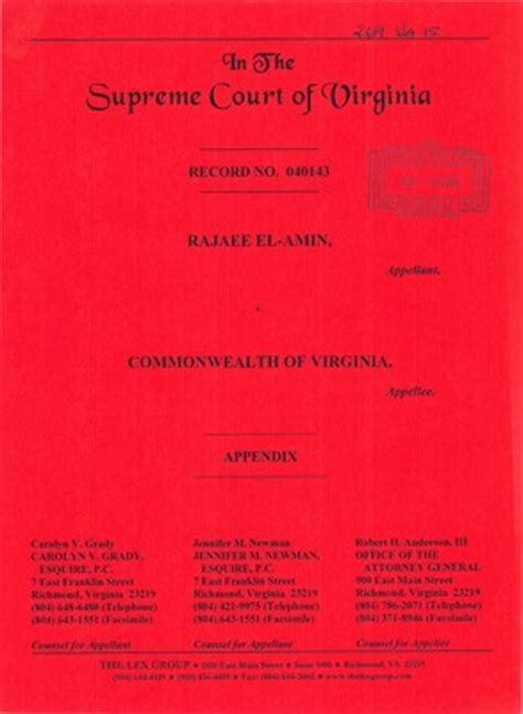 Supreme Court Records Virginia Supreme Court Records Volume 269 Virginia Supreme Court Records