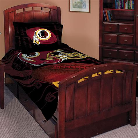 redskins comforter set washington redskins nfl twin comforter set 63 quot x 86 quot