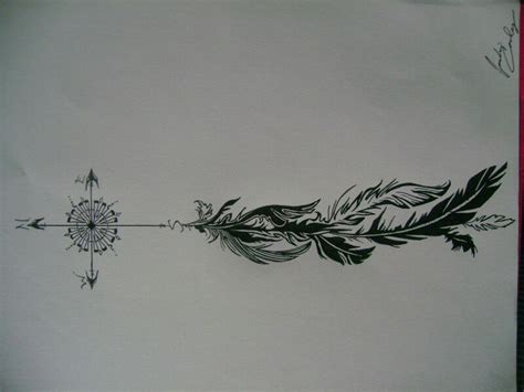 tattoo compass feather compass feather hand tattoo pinterest feathers and
