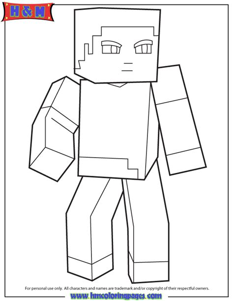 minecraft steve coloring pages printable minecraft coloring pages steve coloring home