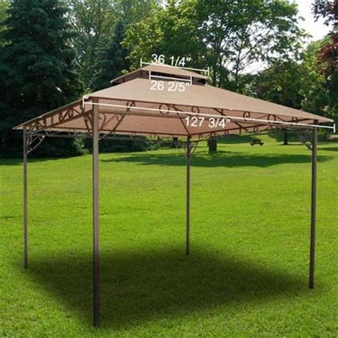 Tent Patio Covers by All Weather Heavy Duty 2 Tier Patio Sun Shade 10x10 Ft