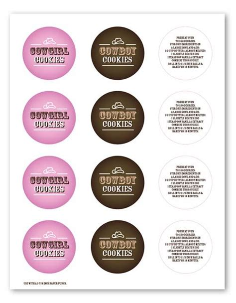 printable cookie jar labels cowgirl cookie recipe and printable labels to use if