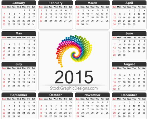 calendar design 2015 vector free download printable 2015 calendar template vector free vector