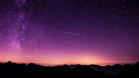 purple starry sky wallpapers hd wallpapers id