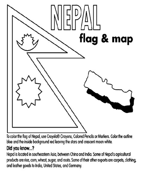 nepal map coloring page nepal coloring page crayola com