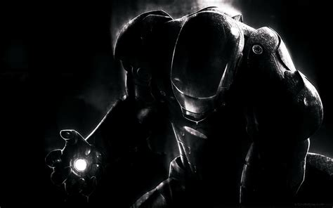 black and white marvel wallpaper black wallpaper with an iron man wallpapers and images