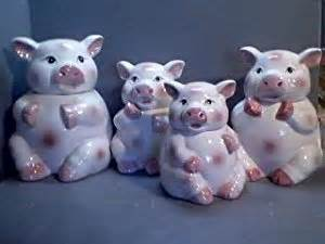 pig kitchen canisters food storage organization sets