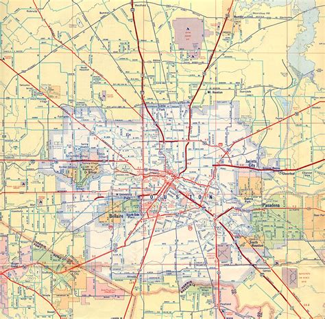 texas freeway map texasfreeway gt houston gt historical information gt road maps