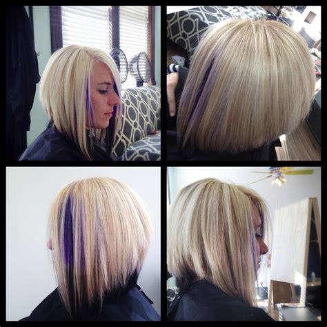 inverted bob and blonde or brunette inverted bob cut lightest blonde with violet to dark