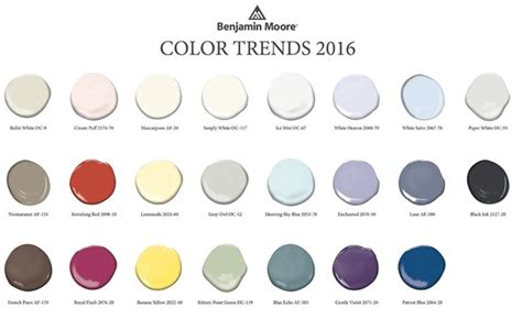 benjamin s 2016 color trends ville painters inc