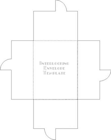 envelope box template interlocking envelope template temptress