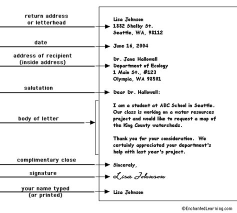 Business Letter Format Graphic Organizer schroonschool graphic organizers