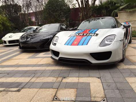porsche hypercar hypercar trio in china mclaren p1 laferrari and porsche