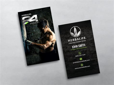 herbalife business card template herbalife business card 06
