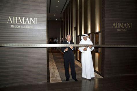 Interior Design Magazine Dubai by Armani Hotel Opens In Dubai S Burj Khalifa