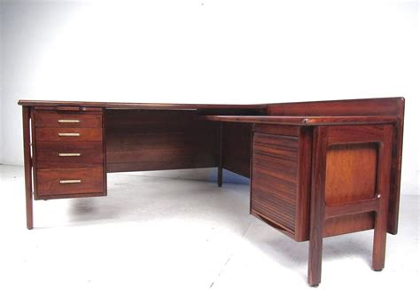 impressive mid century modern l shaped executive desk at
