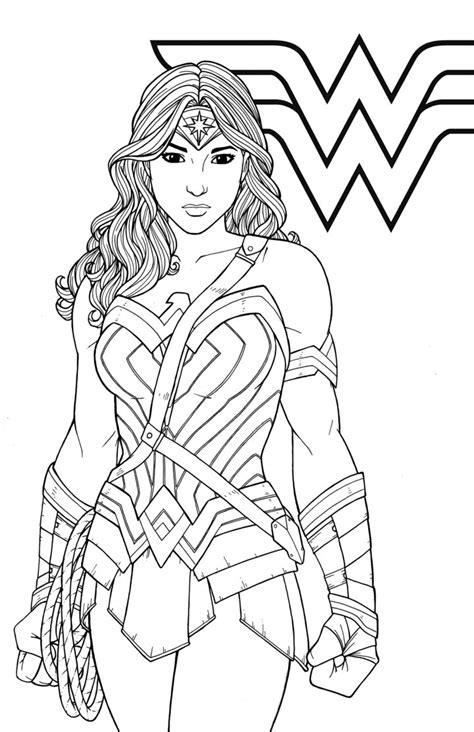 gal gadot  woman coloring pages