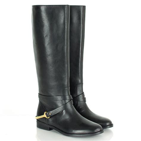 ralph black knee women s flat boot