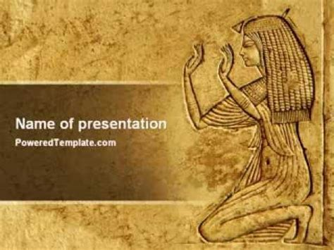 themes powerpoint 2010 history egyptian engraving powerpoint template by poweredtemplate