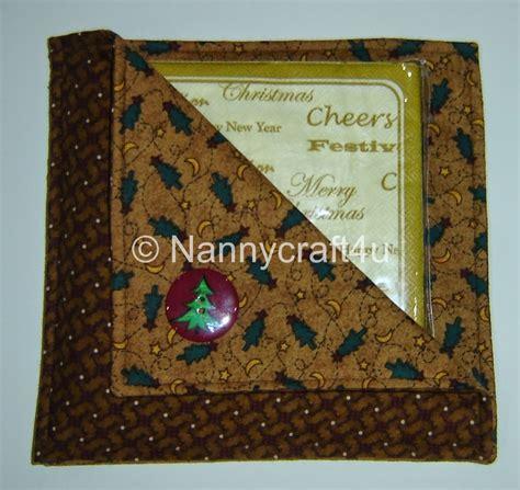 pattern for fabric napkin holder make a serviette holder nannycraft4u