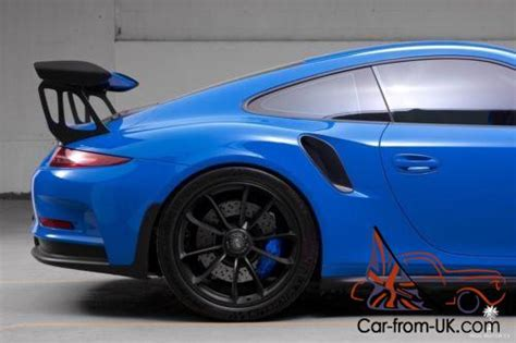 2016 porsche 911 gt3 rs voodoo blue paint to sle