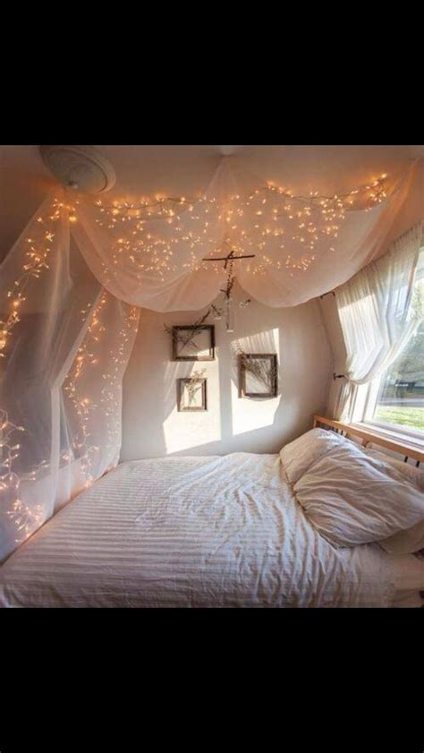 fairy lights bedroom bedroom fairy lights pretty teen room diy decor pinterest