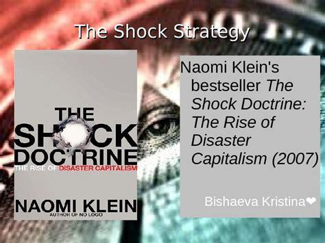 the shock doctrine the презентация the shock doctrine