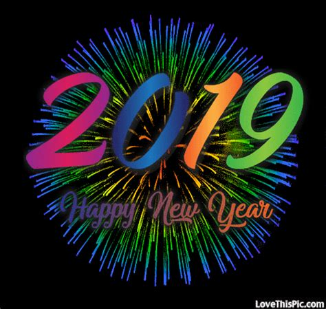 colorful  happy  year fireworks gif pictures   images  facebook tumblr