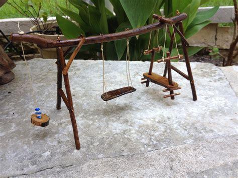 garden swing sets miniature garden swing set by 4loveofjunk on etsy