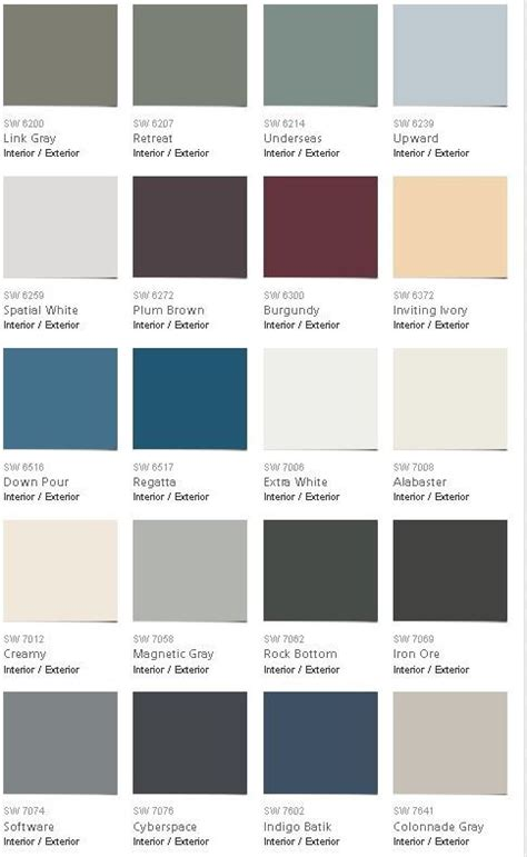 pottery barn sherwin williams fall 2016 color palette