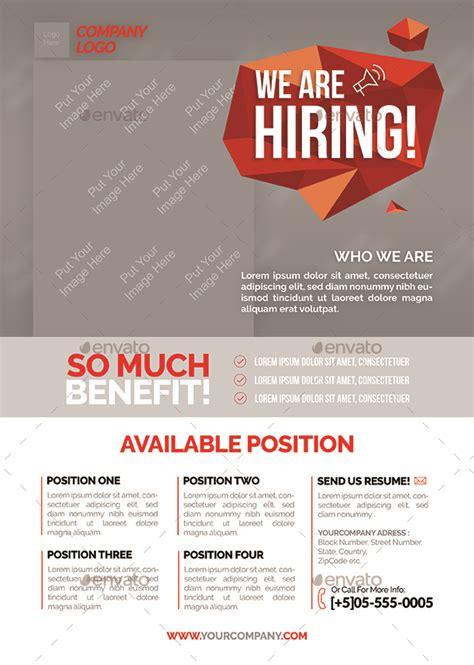 vacancy advertisement template vacancy flyer by shamcanggih graphicriver