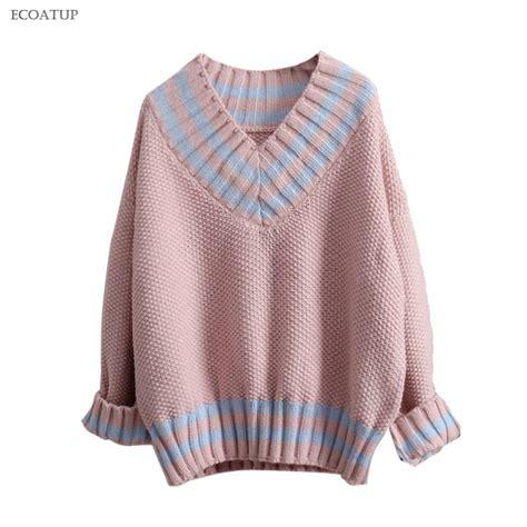 Vogue Sweater Zt7106 1 aliexpress buy warm thicken sweater autumn winter vintage v neck color block