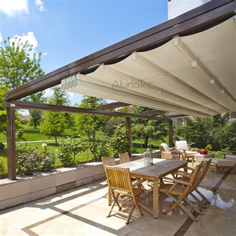 retractable roof awning pvc retractable roof aluminum pergola buy aluminum