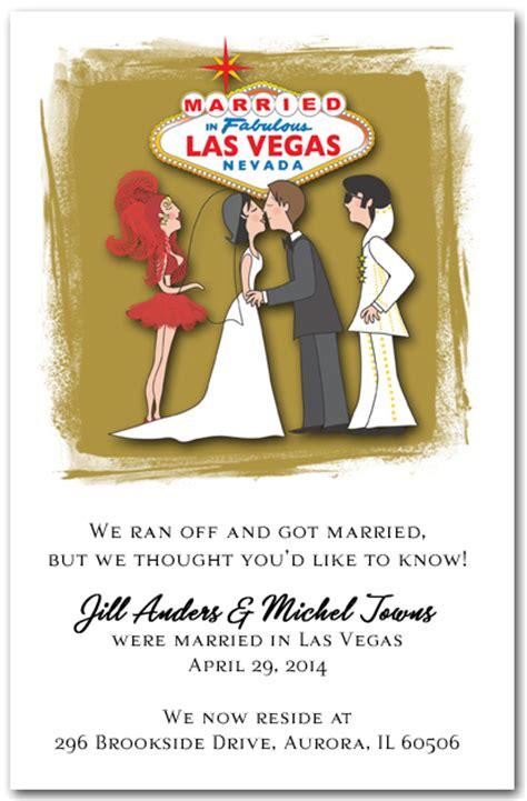 vegas wedding card married in las vegas with elvis announcement
