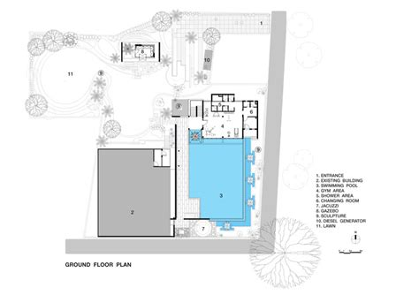 swimming pool floor plan pool house abin design studio archdaily