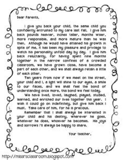 thank you letter to class parents miss r s room end of year letters school kindergarten