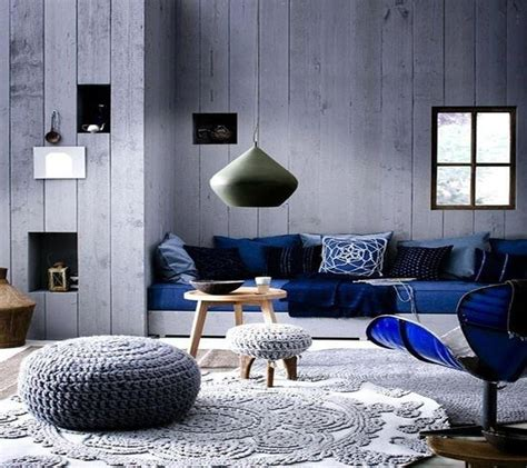 cobalt blue and gray brilliant beautiful house and