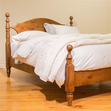 Cannonball Bed With Low Footboard In Williams Pine Cannonball Bed Frame